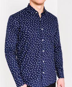 Marškiniai vyrams ilgomis rankovėmis su akinių raštu internetu pigiau K454 11475