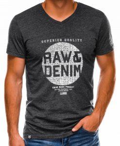 Juodi vyriški marškinėliai su užrašu internetu S1158 13700-1