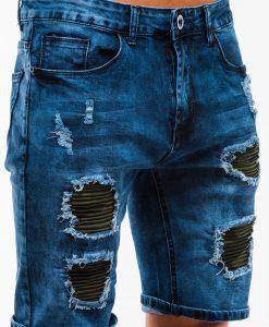 Tamsiai mėlyni vyriški džinsiniai šortai internetu pigiau W130 13789-4