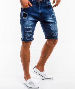 Tamsiai mėlyni vyriški džinsiniai šortai internetu pigiau W131 13790-3