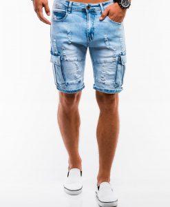 Šviesiai mėlyni vyriški džinsiniai šortai internetu pigiau W132 13793-1