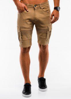 Smėlio cargo vyriški šortai su talpiomis kišenėmis W133 13794-6