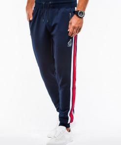 Stilingos tamsiai mėlynos sportinės kelnės vyrams internetu pigiau P854+B975 13852-1