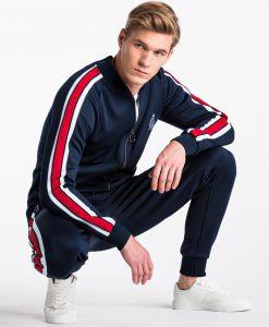Tamsiai mėlynas vyriškas džemperis internetu pigiau B975+P854 13881-1