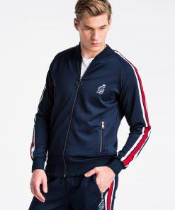 Tamsiai mėlynas džemperis vyrams internetu pigiau B975+P854 13881-4