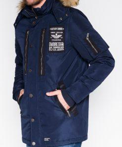 Tamsiai mėlyna žieminė vyriška striukė internetu pigiau Colector C360 10409-1