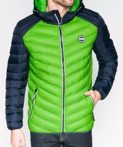 Žalia pavasarinė vyriška striukė internetu pigiau Ralf C366 10543-1
