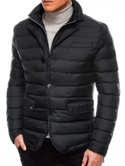 Stilinga juoda rudens-pavasario striukė vyrams internetu pigiau Kruz C364 11207-3