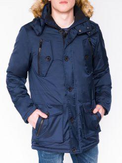 Tamsiai mėlyna žieminė vyriška striukė internetu pigiau Jursk C361 11234-1