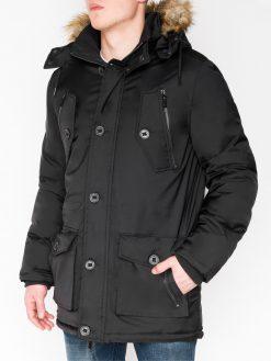 Juoda žieminė vyriška striukė internetu pigiau Jursk C361 11235-1
