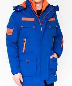 Mėlyna žieminė vyriška striukė internetu pigiau Raf C379 11251-1