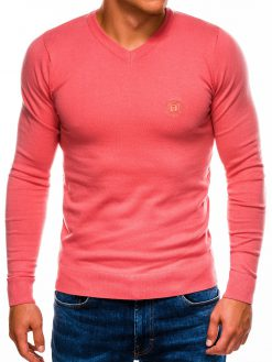 Sodriai koralinis vyriškas megztinis internetu pigiau E74 11577-1