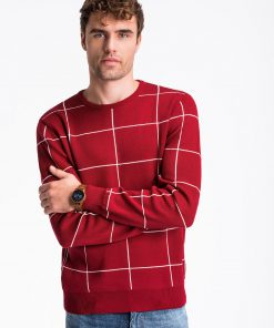 Raudonas vyriškas megztinis internetu pigiau E163 13961-1
