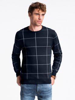 Tamsiai mėlynas vyriškas megztinis internetu pigiau E163 13962-1