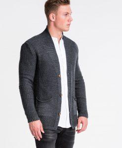 Tamsiai pilkas vyriškas megztinis internetu pigiau E164 13964-4
