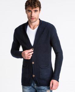Tamsiai mėlynas vyriškas megztinis internetu pigiau E164 13965-1