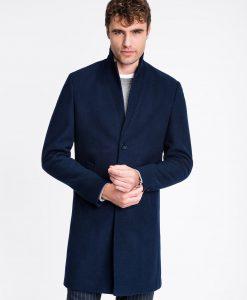 Tamsiai mėlynas rudeninis vyriškas paltas internetu pigiau C425 13970-3