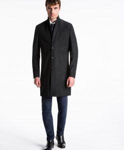Juodas rudeninis vyriškas paltas internetu pigiau C425 13971-1