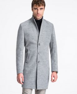 Pilkas rudeninis vyriškas paltas internetu pigiau C425 13972-3