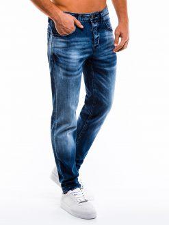 Mėlyni vyriški džinsai internetu pigiau P858 13980-3