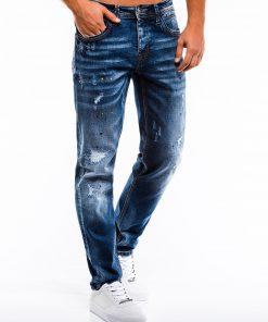 Mėlyni plešyti vyriški džinsai internetu pigiau P859 13982-1