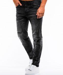 Juodi plešyti vyriški džinsai internetu pigiau P859 13983-1