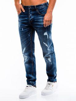 Mėlyni plėšyti vyriški džinsai internetu pigiau P861 13986-1