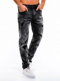 Juodi plėšyti vyriški džinsai internetu pigiau P861 13987-1