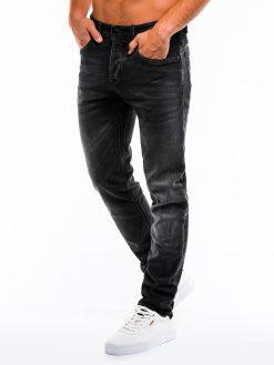 Juodi klasikiniai vyriški džinsai internetu pigiau P864 13993-1