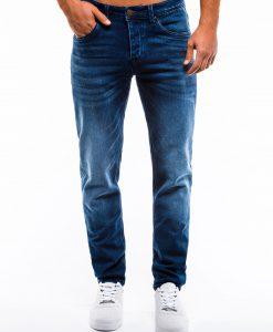 Mėlyni klasikiniai vyriški džinsai internetu pigiau P864 13994-1