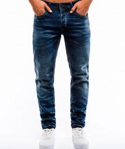 Tamsiai mėlyni klasikiniai vyriški džinsai internetu pigiau P864 13995-1
