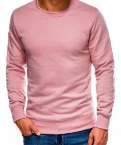 Šviesiai rožinis vyriškas džemperis internetu pigiau B978 14005-3