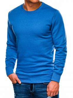 Šviesiai mėlynas vyriškas džemperis internetu pigiau B978 14006-2