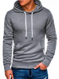 Pilkas melanžinis vyriškas džemperis internetu pigiau B979 14012-1