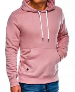 Šviesiai rožinis vyriškas džemperis internetu pigiau B979 14013-1