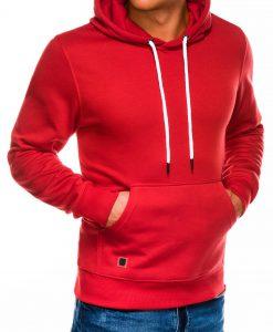 Raudonas vyriškas džemperis internetu pigiau B979 14018-1