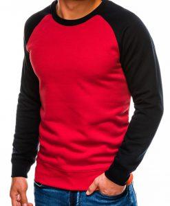 Raudonas vyriškas džemperis internetu pigiau B980 14024-1