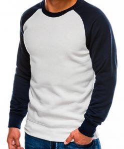 Baltas vyriškas džemperis internetu pigiau B980 14025-2