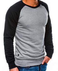 Tamsiai pilkas vyriškas džemperis internetu pigiau B980 14026-4