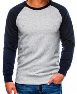 Pilkas vyriškas džemperis internetu pigiau B980 14028-1