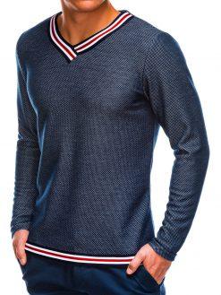 Tamsiai mėlynas vyriškas džemperis internetu pigiau B697 14032-1