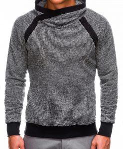 Juodas vyriškas džemperis internetu pigiau B678 14033-1