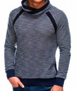 Tamsiai mėlynas vyriškas džemperis internetu pigiau B678 14034-3