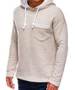 Rusvas vyriškas džemperis su gobtuvu internetu pigiau B963 14045-3