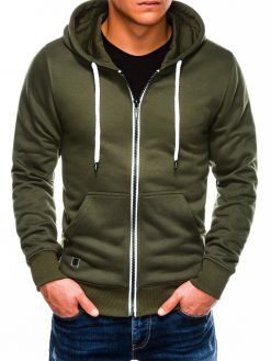 Chaki vyriškas džemperis su gobtuvu internetu pigiau B977 14050-1