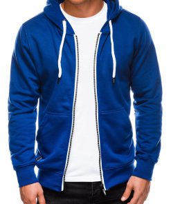 Sodriai mėlynas vyriškas džemperis su gobtuvu internetu pigiau B977 14051-4