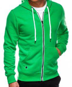 Žalias vyriškas džemperis su gobtuvu internetu pigiau B977 14053-3