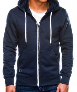 Tamsiai mėlynas vyriškas džemperis su gobtuvu internetu pigiau B977 14054-1