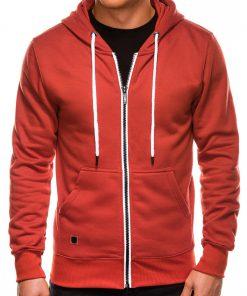 Oranžinis vyriškas džemperis su gobtuvu internetu pigiau B977 14055-2