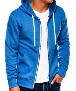 Mėlynas vyriškas džemperis su gobtuvu internetu pigiau B977 14056-1